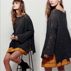 Free People Pretty Pointelle Oversized Sweater